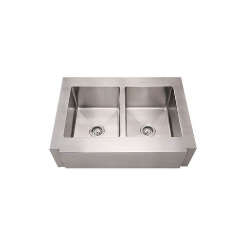 "36"" Stainless Steel Double Apron Kitchen Sink"