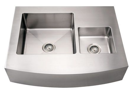"36"" Stainless Steel Double Bowl Arch Kitchen Sink"