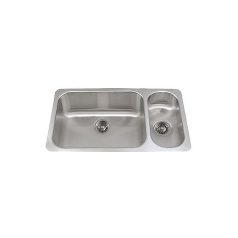 "32"" Stainless Steel Two Bowl Disposal Kitchen Sink"