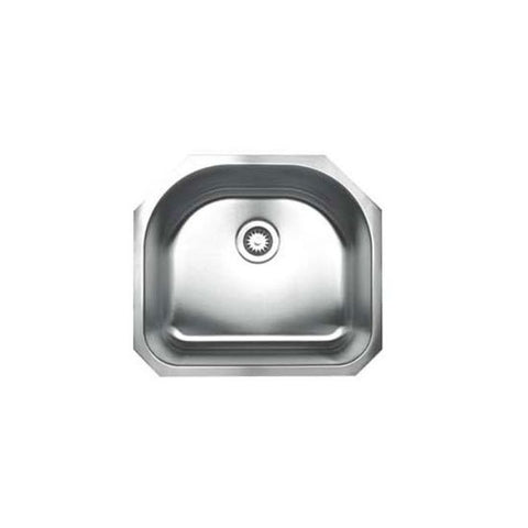 "21"" Stainless Steel D-Bowl Undermount Kitchen Sink"