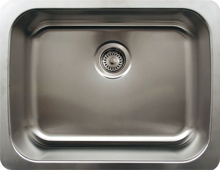 "23"" Stainless Steel Single Bowl Undermount Kitchen Sink"