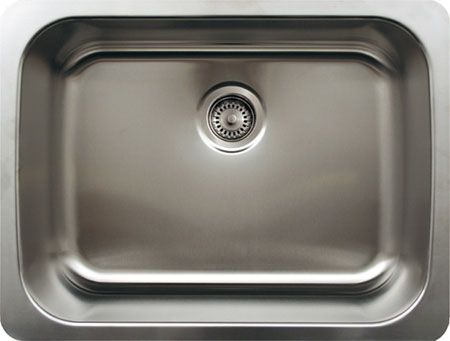"25"" Stainless Steel Single Bowl Undermount Kitchen Sink"