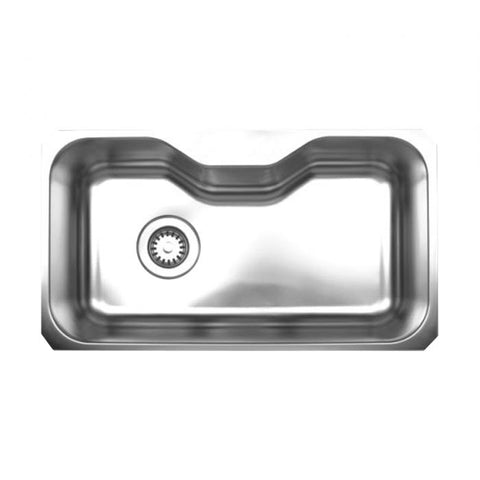 "30"" Stainless Steel Single Undermount Kitchen Sink"