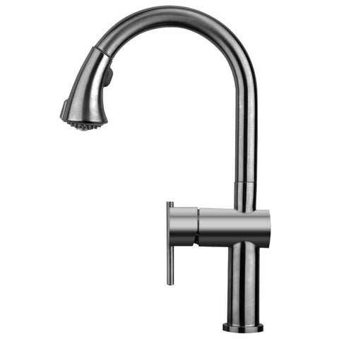 Waterhaus S. Steel Faucet with Pull Down Spray Head