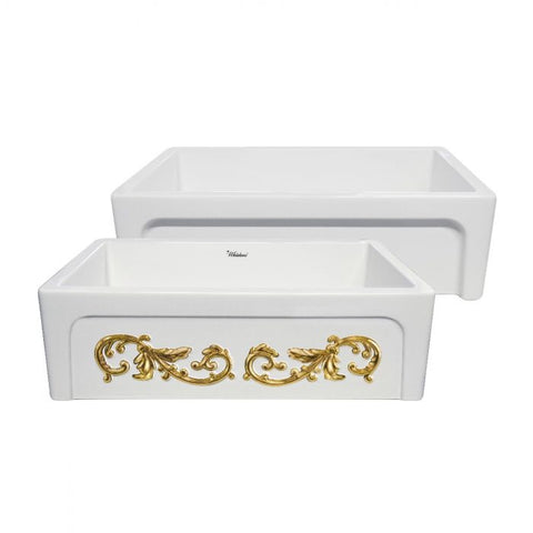 "St. Ives Ornamental 33"" Reversible Fireclay Sink"