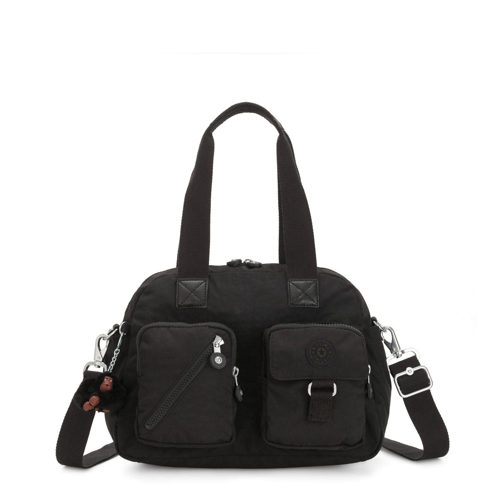 Bolsa Kipling Defea Handbag - Black Tonal Zipper