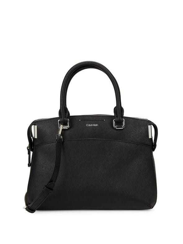 Bolsa Calvin Klein Raelyn Leather Satchel Piel Saffiano