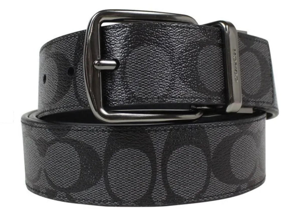 Cinturón Coach Wide Harness Cut-To-Size Reversible Signature Coated Canvas Belt (Coach F64839)