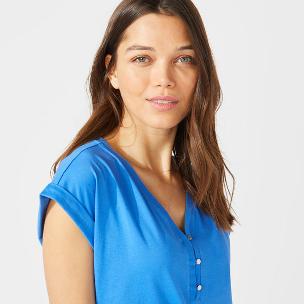 Blusa Nautica Dama BUTTON DETAIL KNIT TOP