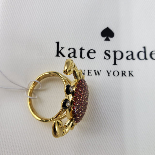 Anillo Kate Spade Shore Thing Pave Crab Ring #6 - illa Elite Fashion Suppliers
