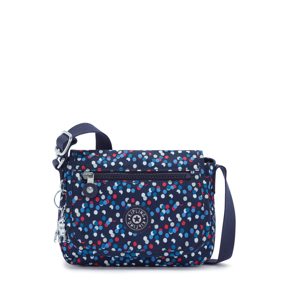 Kipling Sabian Crossbody Bag Puntitos Azul