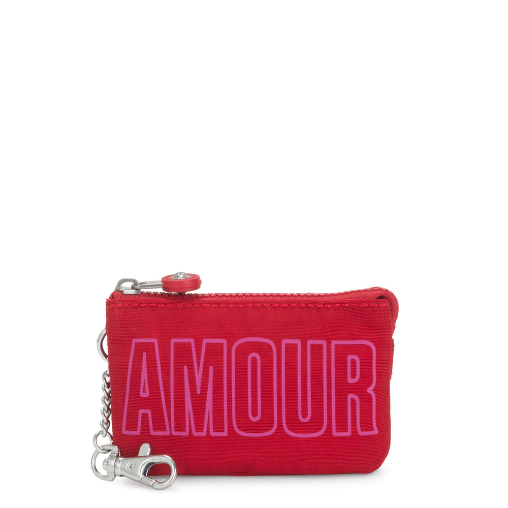 Monedero Kipling Mini Creativity Amour Rojo
