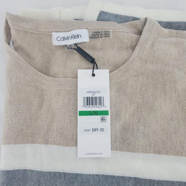 Poncho Calvin Klein L-XL Beige Gris - illa Elite Fashion Suppliers