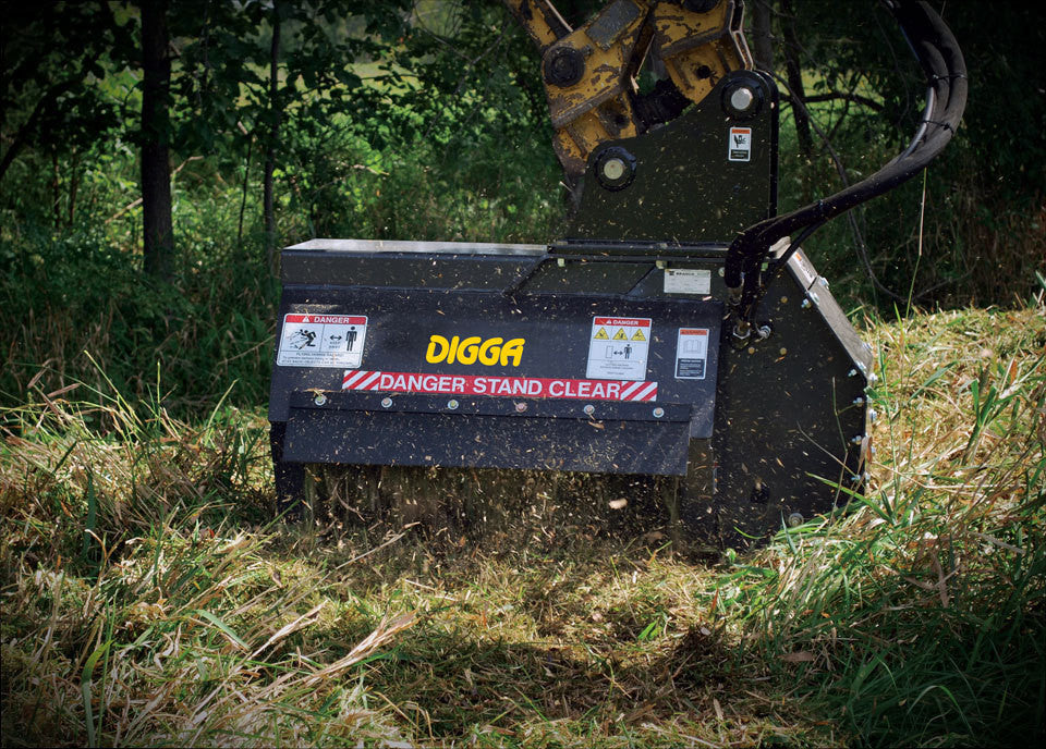 Digga Flail Mower - 3 to 6 Tonne Excavators