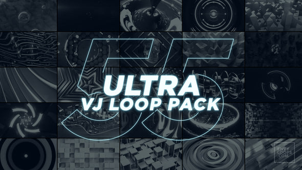 ULTRA 55 VJ Loop Pack - Professional VJ Background Loops [EnvyLoops.com]