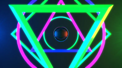 VJ Loop - Neon Geometry - Professional VJ Background Loops [EnvyLoops.com]