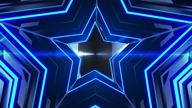 VJ Loop - Blue Party Star - Professional VJ Background Loops [EnvyLoops.com]