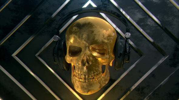 VJ Loop - Golden Rocking Skull - Professional VJ Background Loops [EnvyLoops.com]