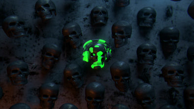 VJ Loop - Radioactive Skull - Professional VJ Background Loops [EnvyLoops.com]