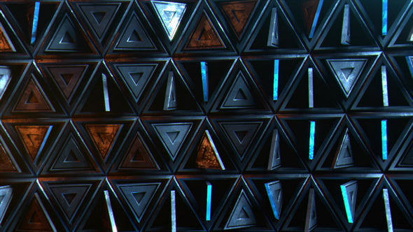 VJ Loop - Triangle Wall - Professional VJ Background Loops [EnvyLoops.com]