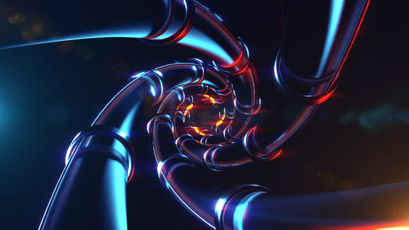 VJ Loop - Fire Pipes - Professional VJ Background Loops [EnvyLoops.com]
