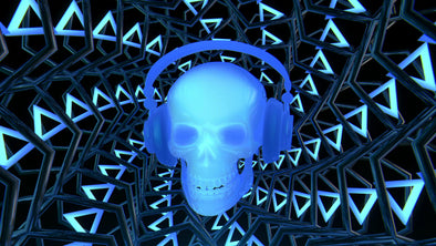 VJ Loop - Blue Rocking Skull - Professional VJ Background Loops [EnvyLoops.com]