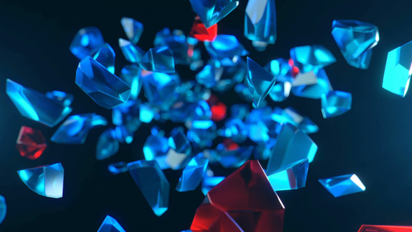 VJ Loop - Diamond Glass Gem Shards [4K & 1080p] - Professional VJ Background Loops [EnvyLoops.com]