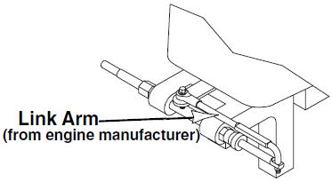 Outboard link arm