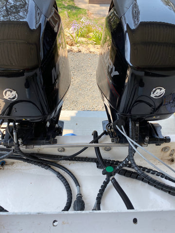 Twin Mercury Outboard Steering