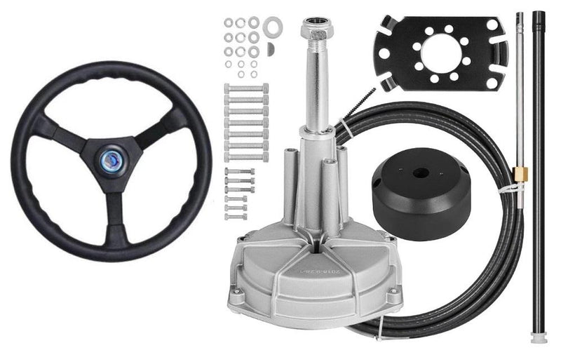Boat Steering Kit cable helm wheel Multiflex Teleflex Compatible