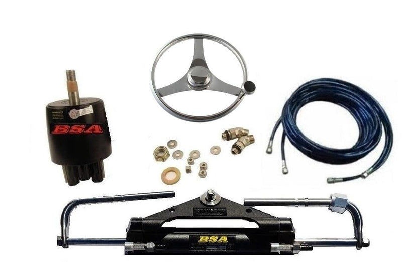 Yamaha Outboard Stainless Steel wheel Quick Turning function Hydraulic Steering Boat steering Kit - Boat Steering Australia