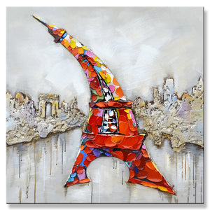 Oil Painting eiffel tower