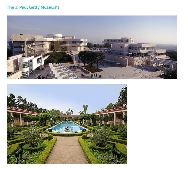 The J. Paul Getty Museums盖蒂中心