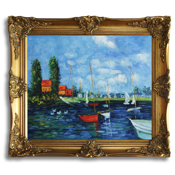 "MC015-Claude Monet - Argenteuil-Claude Monet Repro Oil Painting on Canvas 20x24"" - USA Oil Painting- Art Supplies"