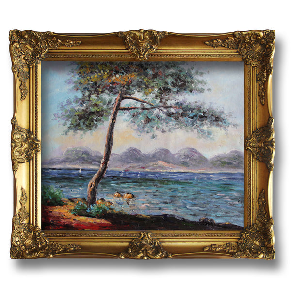 "MC034-Cap d' Antibes-Claude Monet Repro Oil Painting on Canvas 20x24"" - USA Oil Painting- Art Supplies"