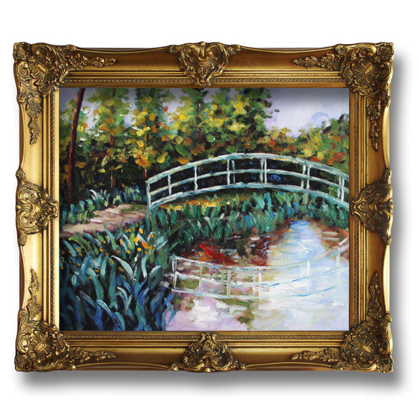 "MC071-The Water-Lily Pond, Water Irises-Claude Monet Repro Oil Painting on Canvas 20x24"" - USA Oil Painting- Art Supplies"
