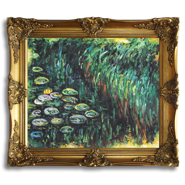 "MC085-Water Lilies-Claude Monet Repro Oil Painting on Canvas 20x24"" - USA Oil Painting- Art Supplies"