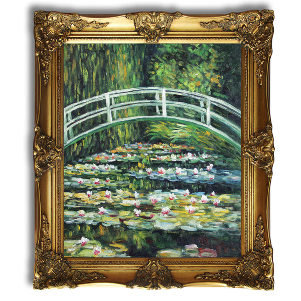 "MC091-White Water Lilies, 1899-Claude Monet Repro Oil Painting on Canvas 20x24"" - USA Oil Painting- Art Supplies"