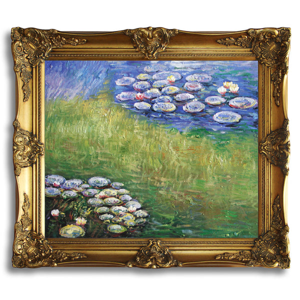 "MC103-Waterlilies-Claude Monet Repro Oil Painting on Canvas 20x24"" - USA Oil Painting- Art Supplies"