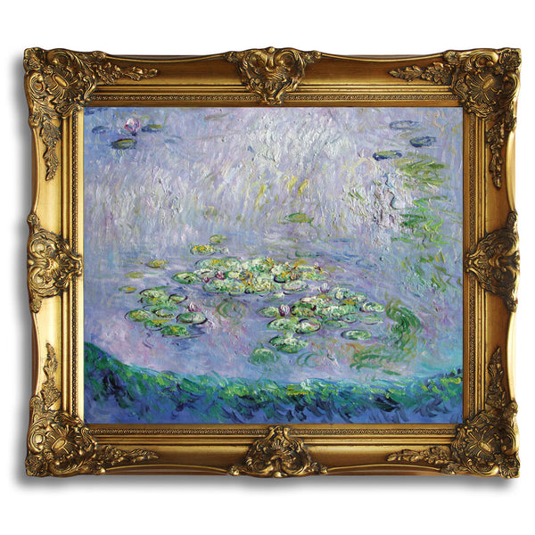"MC116-Nympheas ( Waterlilies )-Claude Monet Repro Oil Painting on Canvas 20x24"" - USA Oil Painting- Art Supplies"