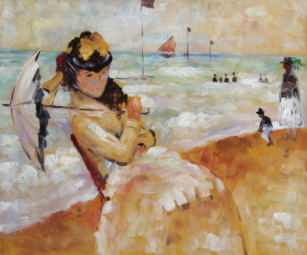 MC118-Camille on the Beach at Trouville