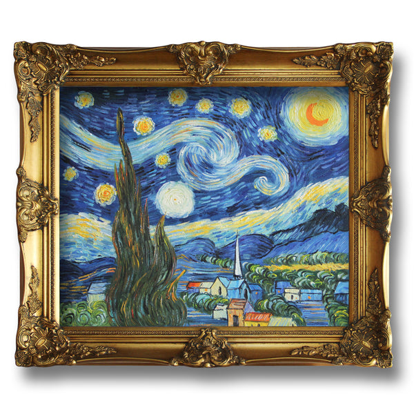 "VG02-The Starry Night-Vincent van Gogh Repro Oil Painting on Canvas 20x24"" - USA Oil Painting- Art Supplies"