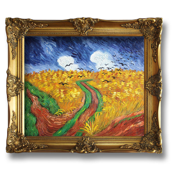 "VG08-Wheatfield with Crows-Vincent van Gogh Repro Oil Painting on Canvas 20x24"" - USA Oil Painting- Art Supplies"