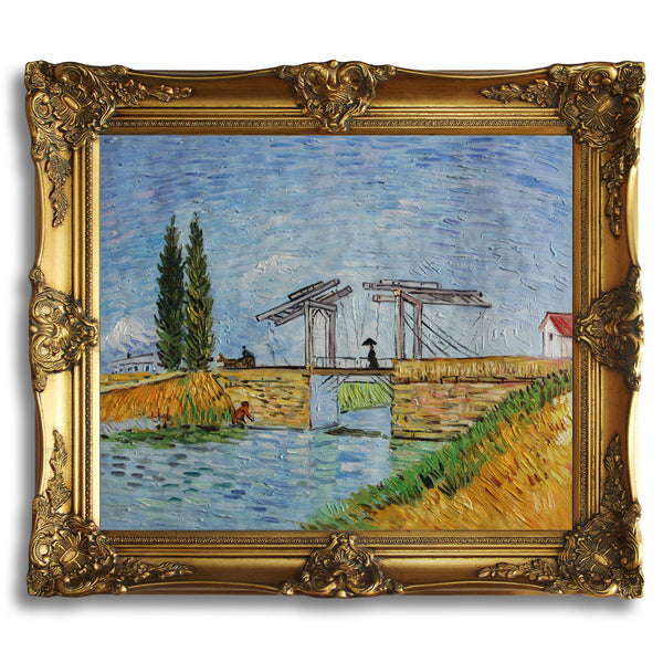 "VG105-The Langlois Bridge at Arles-Vincent van Gogh Repro Oil Painting on Canvas 20x24"" - USA Oil Painting- Art Supplies"