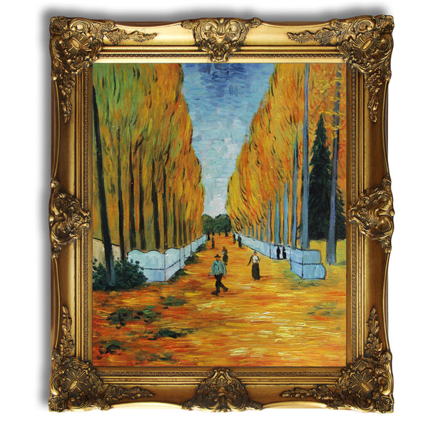 "VG27-Alychamps-Vincent van Gogh Repro Oil Painting on Canvas 20x24"" - USA Oil Painting- Art Supplies"