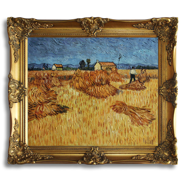 "VG43-Harvest in Provence-Vincent van Gogh Repro Oil Painting on Canvas 20x24"" - USA Oil Painting- Art Supplies"