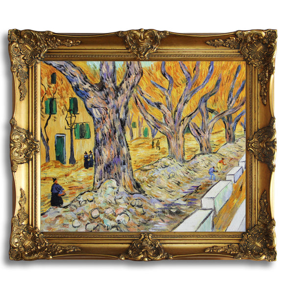 "VG51-Large Plane Trees-Vincent van Gogh Repro Oil Painting on Canvas 20x24"" - USA Oil Painting- Art Supplies"