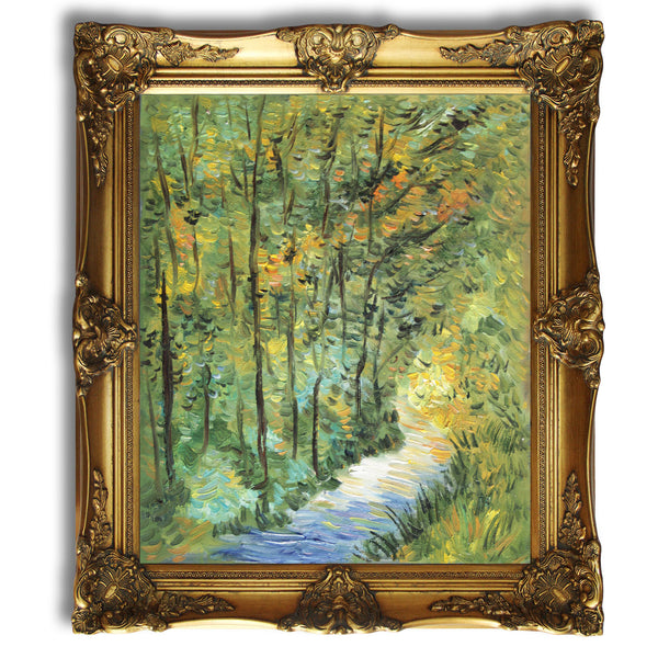 "VG63-Path in the Woods-Vincent van Gogh Repro Oil Painting on Canvas 20x24"" - USA Oil Painting- Art Supplies"
