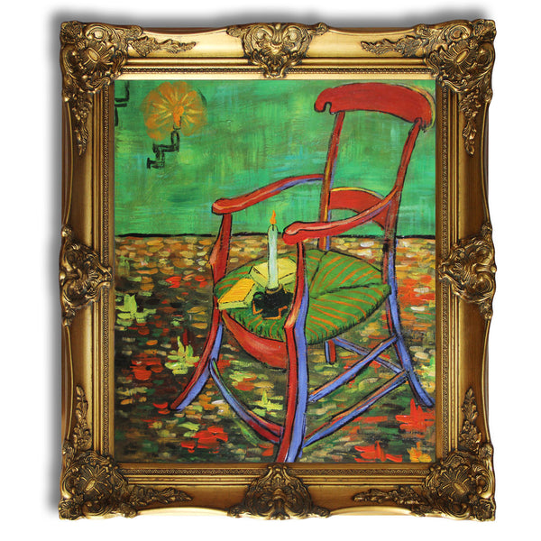 "VG64-Paul Gauguin s Armchair-Vincent van Gogh Repro Oil Painting on Canvas 20x24"" - USA Oil Painting- Art Supplies"