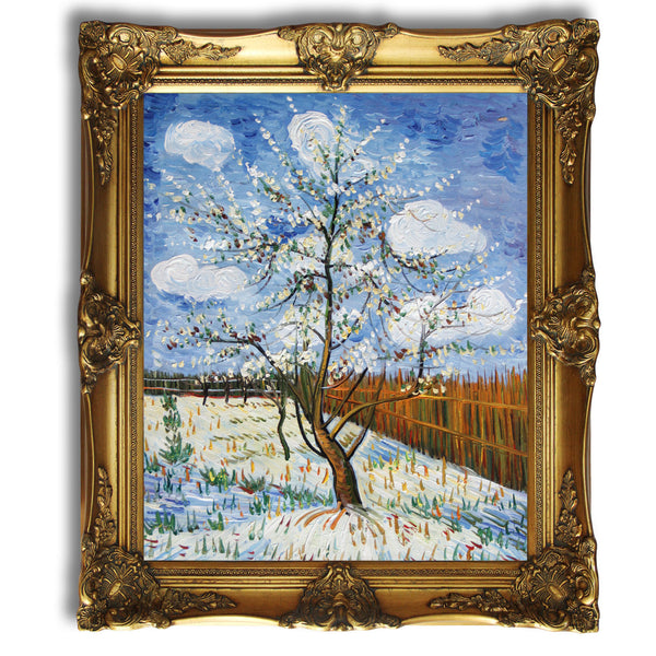 "VG66-Peach Trees in Blossom-Vincent van Gogh Repro Oil Painting on Canvas 20x24"" - USA Oil Painting- Art Supplies"